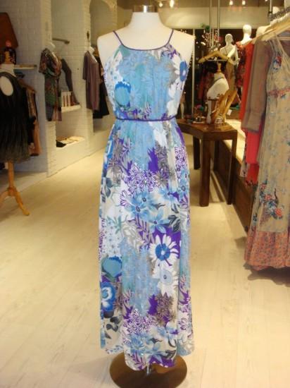 blue floral halter maxi (photo: facebook.com/undeniableboutique)